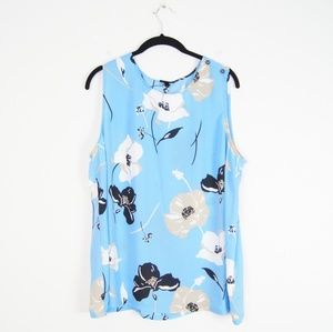 Who What Wear | Blue Floral Top